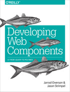 Cover of Developing Web Components