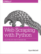 Cover of Web Scraping with Python