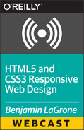 Book cover for HTML5 and CSS3 Responsive Web Design