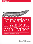 Cover of Foundations for Analytics with Python