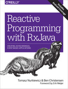 Cover of Reactive Programming with RxJava