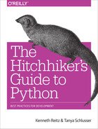 Cover of The Hitchhiker's Guide to Python