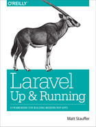 Cover of Laravel: Up and Running