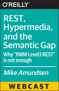 Book cover for REST, Hypermedia, and the Semantic Gap