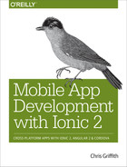 Cover of Mobile App Development with Ionic 2, 1st Edition