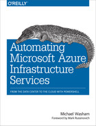 Cover of Automating Microsoft Azure Infrastructure Services