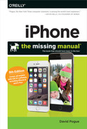 Cover of iPhone: The Missing Manual, 8th Edition