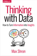 Book cover for Thinking with Data