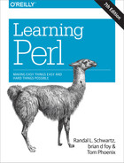 Cover of Learning Perl, 7th Edition
