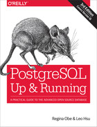 Cover of PostgreSQL: Up and Running, 3rd Edition
