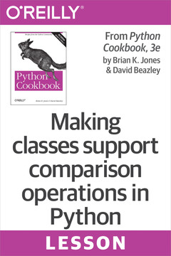 Making classes support comparison operations in Python