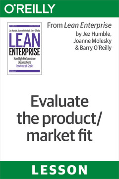 Evaluate the product/market fit