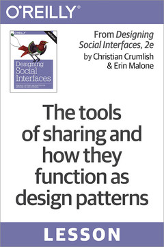 The tools of sharing and how they function as design patterns