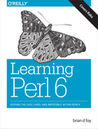 Cover of Learning Perl 6