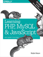 Cover of Learning PHP, MySQL & JavaScript, 5th Edition