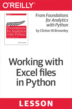 Excel Files - Working with Excel files in Python [Book]