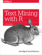 Cover of Text Mining with R