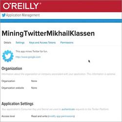 Mining the Social Web - Twitter