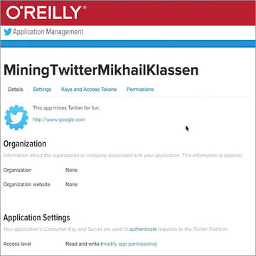 Mining the Social Web - Twitter
