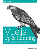Cover of Vue.js: Up and Running