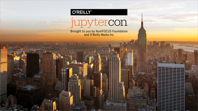 JupyterCon 2018 in New York Video Compilation