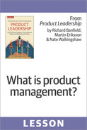 Cover of What is product management?