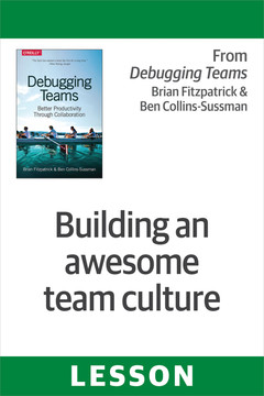 Building an awesome team culture