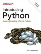 Introducing Python, 2nd Edition