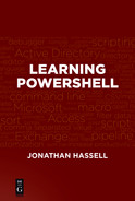 Cover of Learning PowerShell