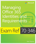 Cover of Exam Ref 70-346 Managing Office 365 Identities and Requirements