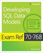 Cover of Exam Ref 70-768 Developing SQL Data Models, First Edition