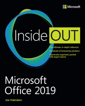 Microsoft Office 2019 Inside Out First Edition Book