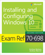 Cover of Exam Ref 70-698 Installing and Configuring Windows 10, Second Edition