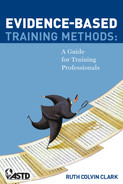 Cover of Evidence-Based Training Methods: A Guide for Training Professionals