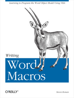 Writing Word Macros, Second Edition