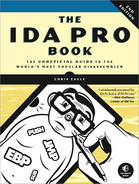 Cover image for The IDA Pro Book, 2nd Edition