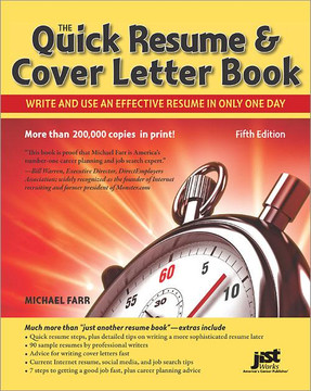 The Quick Resume & Cover Letter Book, 5th Edition