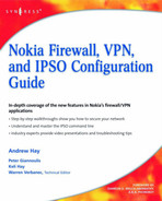 Book cover for Nokia Firewall, VPN, and IPSO Configuration Guide