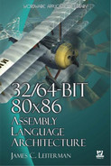 Cover of 32/64-Bit 80x86 Assembly Language Architecture