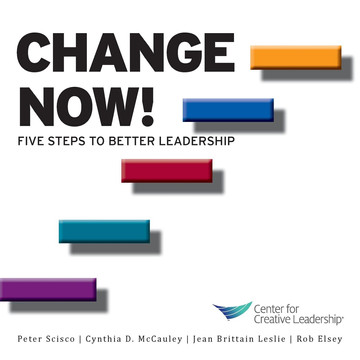 Change Now! Five Steps to Better Leadership