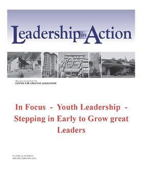 Leadership in Action: In Focus - Youth Leadership - Stepping in Early to Grow great Leaders