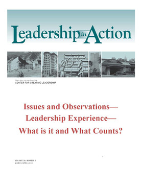 Leadership in Action: Issues and Observations - Leadership Experience - What is it and What Counts?