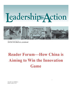 Leadership in Action: Reader Forum—How China is Aiming to Win the Innovation Game