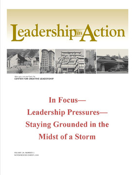 Leadership in Action: In Focus—Leadership Pressures—Staying Grounded in the Midst of a Storm