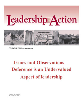 Leadership in Action: Issues and Observations—Deference is an Undervalued Aspect of leadership