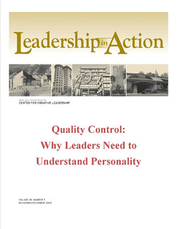 Leadership in Action: Quality Control: Why Leaders Need to Understand Personality
