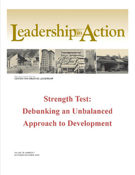Leadership in Action: Strength Test: Debunking an Unbalanced Approach to Development