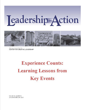 Leadership in Action: Experience Counts: Learning Lessons from Key Events