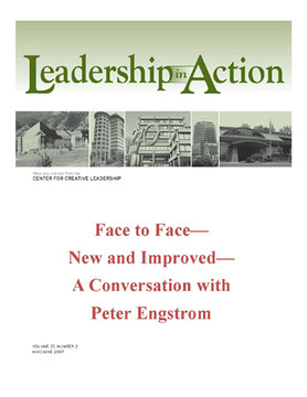 Leadership in Action: Face to Face—New and Improved—A Conversation with Peter Engstrom