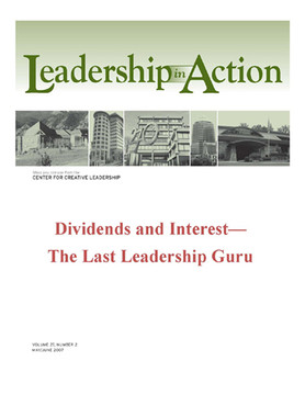 Leadership in Action: Dividends and interest—The Last Leadership Guru
